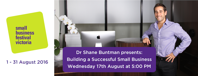 Dr Shane Buntman Presenting at the 2016 Small Business Festival
